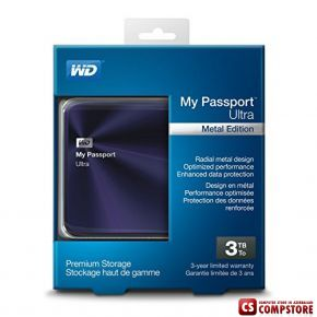 Western Digital MyPassport Ultra Metal Edition 3 TB USB 3.0 (WDBEZW0030BBA-NESN)