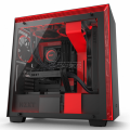 NZXT H700 Matte Black & Red Computer Case (CA-H700B-BR)