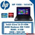 "Кампания! Ноутбук HP 1000-1414TX (F0C96PA) (Intel® Core™ i3-3110M/ DDR3 4 GB/ HDD 500 GB/ AMD Radeon HD 7450М 1 GB/ HD LED 15.6""/ DVD RW)"